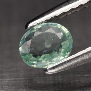 0.26кт 4.5х4мм Естествен Нетретиран Синьо-Зелен Параиба Турмалин от Мозамбик